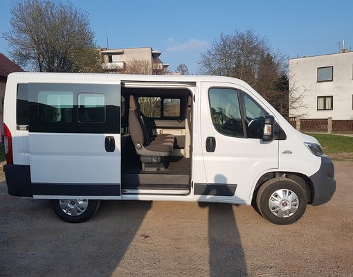 Rent a Fiat Ducato 9seats in Prague Czechia