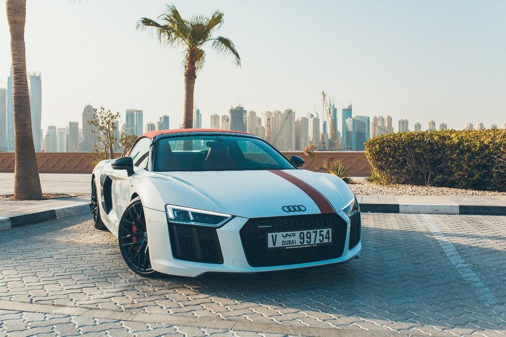 Car Rental Audi R8 V10 Spyder In Uae 811 Automatic Petrol 2018 Localcarhires Com