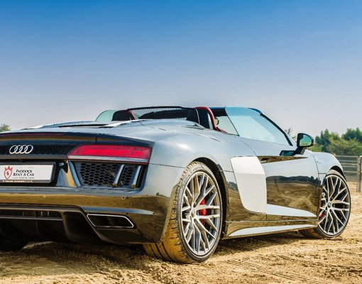 Audi R8 V10 Spyder, Petrol car hire in UAE