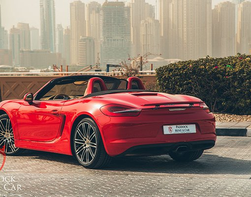 Rent a Porsche 981 Boxster in Dubai UAE