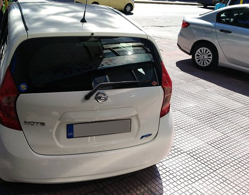 Nissan Note, Petrol car hire in Greece