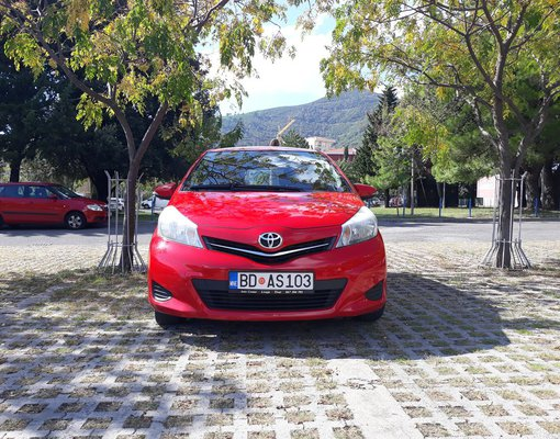 Rent a Toyota Yaris in Budva Montenegro