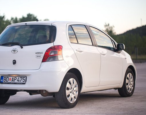 Cheap Toyota Yaris, 1.3 litres for rent in  Montenegro