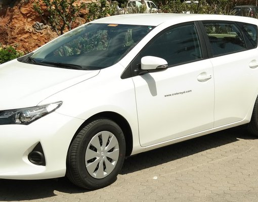 Rent a toyota auris in Hersonissos Greece