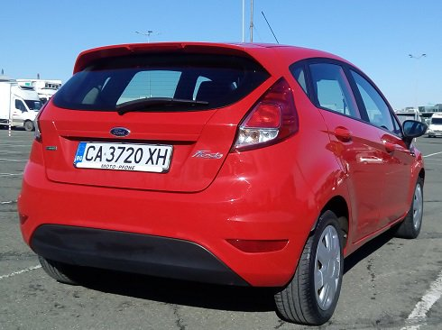 Rent a Ford Fiesta Ecoboost in Burgas Bulgaria