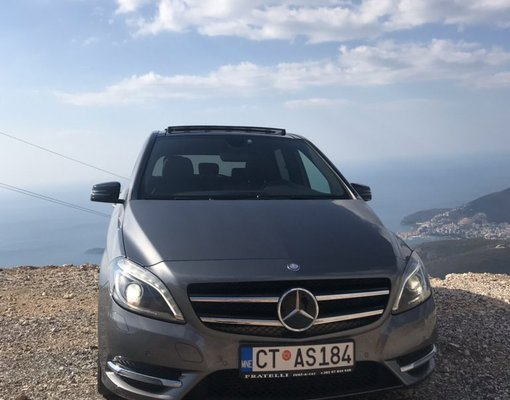 Rent a Mercedes B180 in Rafailovici Montenegro