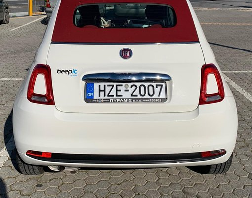 Fiat 500 Cabrio, Petrol car hire in Greece