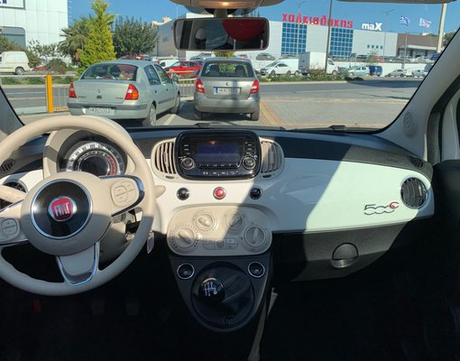 Fiat 500 Cabrio, 1 rental car in Greece