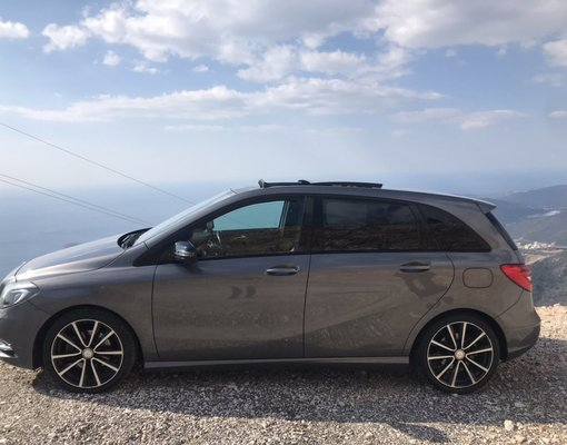 Mercedes B180, Diesel car hire in Montenegro