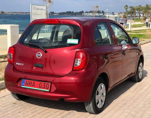 Rent a Nissan Micra in Limassol Cyprus