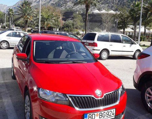 Cheap Skoda Rapid, 1.4 litres for rent in  Montenegro