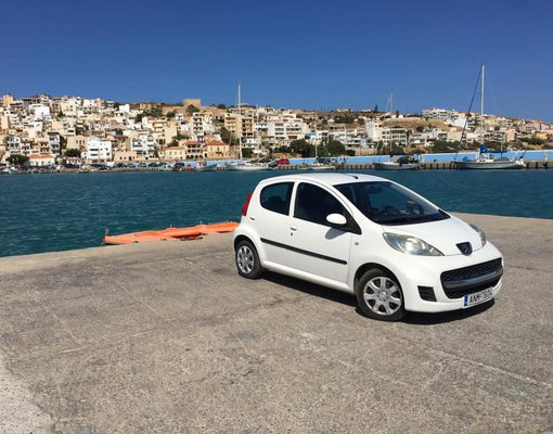 Peugeot 107, Manual for rent in  Heraklion Airport (HER)