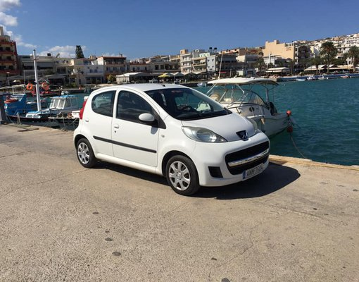 Rent a Peugeot 107 in Heraklion Airport (HER) Greece