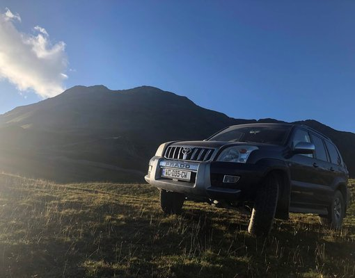 Rent a Toyota Land Cruiser Prado in Tbilisi Georgia
