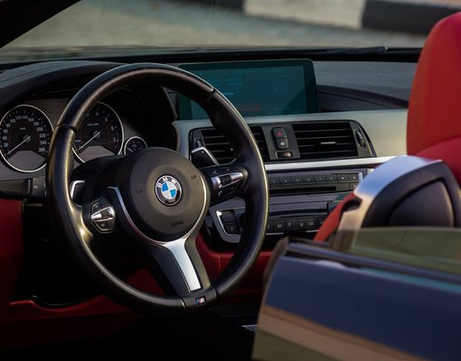 BMW 430i Convertible, 2018 rental car in UAE