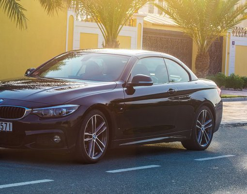 BMW 430i Convertible, Petrol car hire in UAE