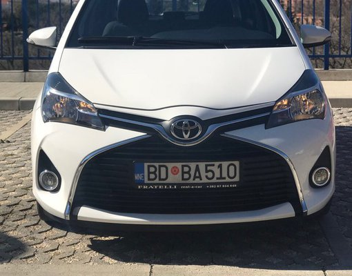 Toyota Yaris, Petrol car hire in Montenegro